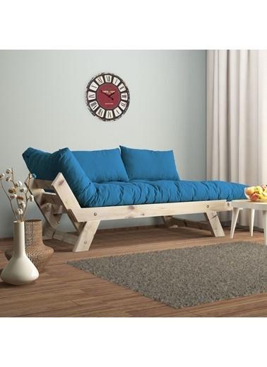 222 Concept Adalar Modern Ahşap Mavi Renk Kanepe Mavi